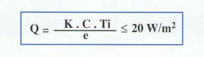 Formula matemática para calculo de calentamiento de soleras en camara frigorifica