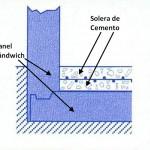 suelo de cemento sobre panel