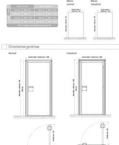 Puertas frigoríficas de servicio