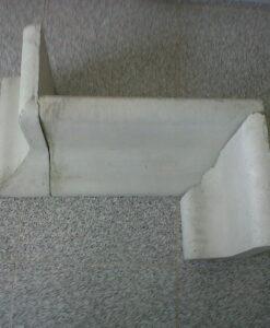 Bordillo de hormigón para esquina sobre solera ref 253