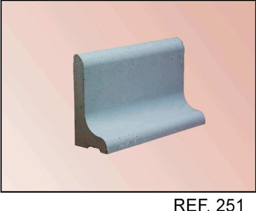 Bordillo de hormigón sobre solera ref 251