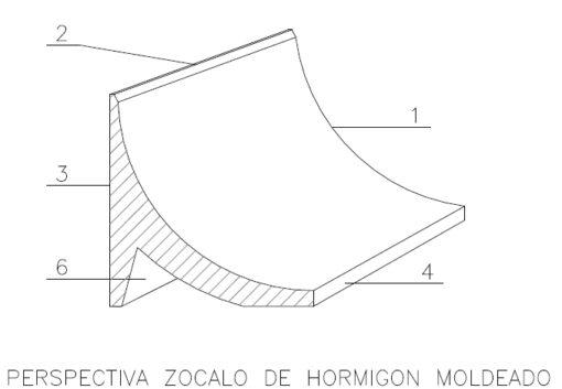 PERSPECTIVA ZOCALO MOLDEADO 252