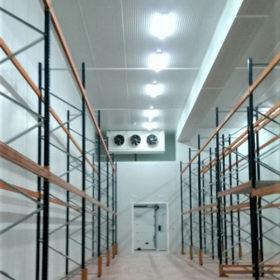 Camara de congelacion con nicho para evaporadores