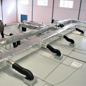 Instalacion climatizacion sala blanca cosmetica