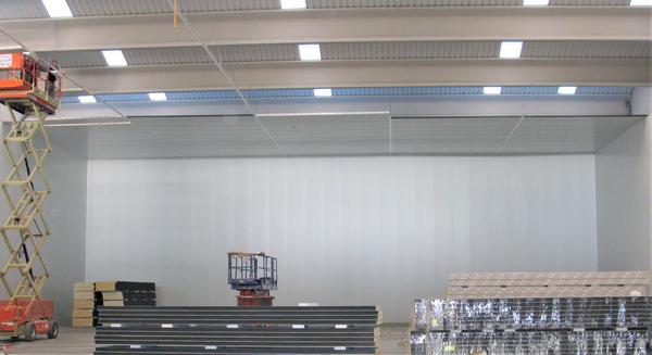 Instalacion de techos en camara industrial