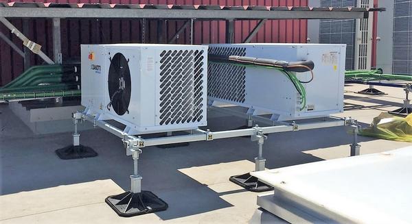 Instalacion de unidades condensadoras en cubierta