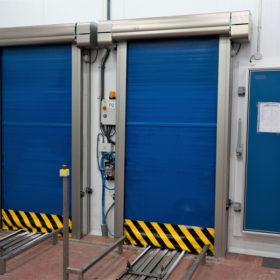 Puertas rapidas en tunel de congelacion