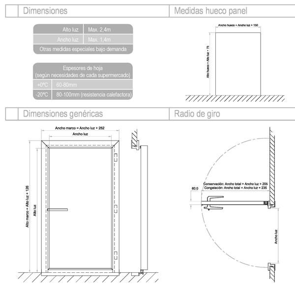 Puertas Pivotantes para Cámaras Frigoríficas ✓ ISOTEMIA ®