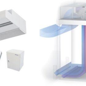 cortinajes de aire refrigerado