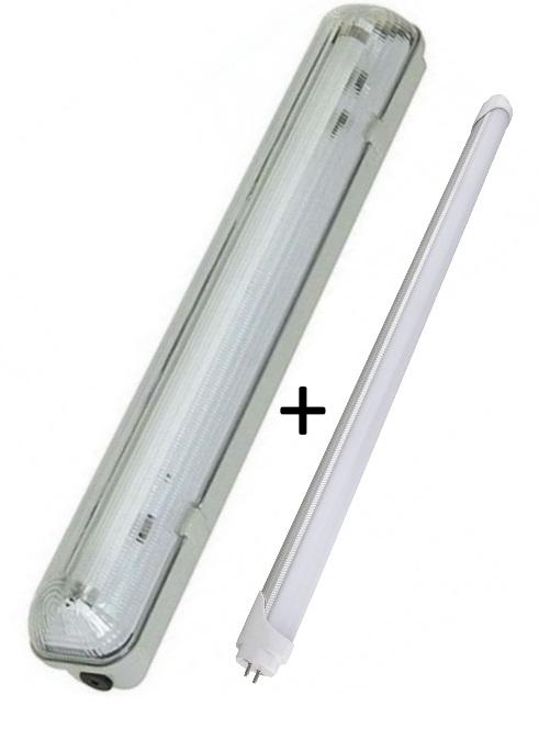 Iluminación Cámaras Frigoríficas pantalla + tubo