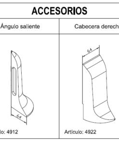 Medidas Accesorios Zócalos Hormigón Polímero altura 180