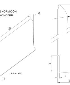 Zócalos de Hormigón Polímero altura 320 mm 2