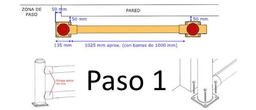 Bolardos y protecciones en Polietileno PASO 1
