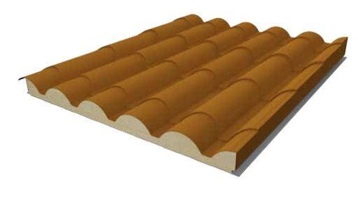 Panel Sándwich Imitacion teja