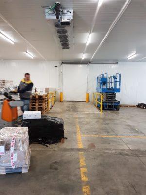 Instalación frigorífico en Almacén Logístico
