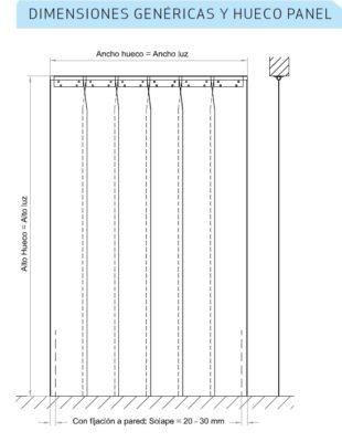dimensiones cortinas de lamas