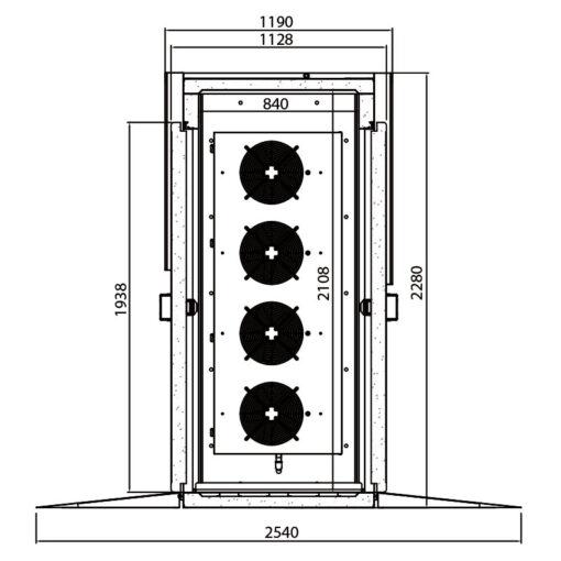 Abatidores y congeladores de temperatura 20 niveles Serie ABT 5 medidas