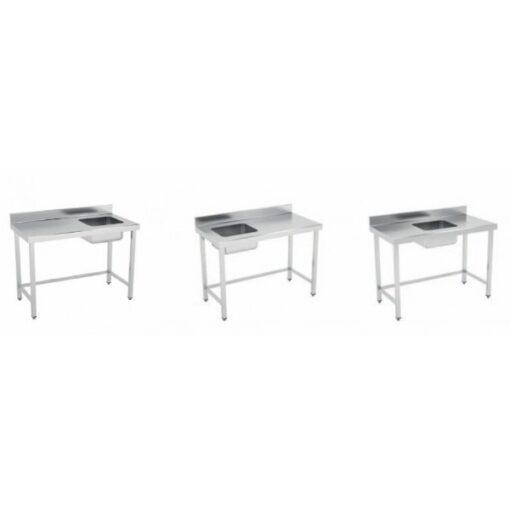 mesa mural chef estandar soldada marco refuerzo 3 sin estante