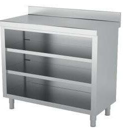 mueble inox neutro contramostrador 2 estantes