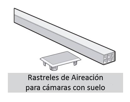 rastrel de aireación para cámaras con suelo