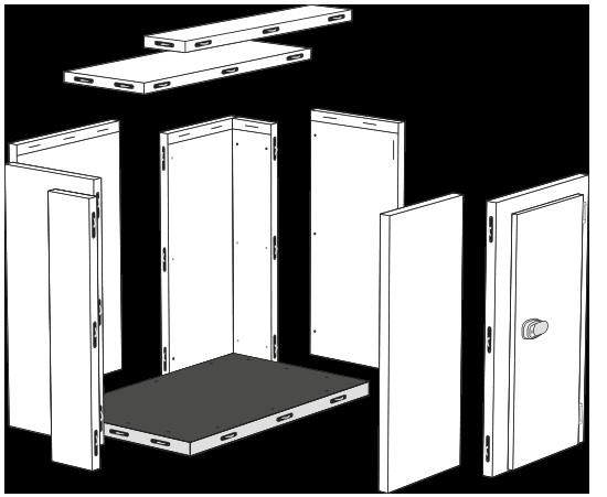vista modular camara frigorifica
