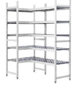 Estanterías frigoríficas de aluminio y polietileno